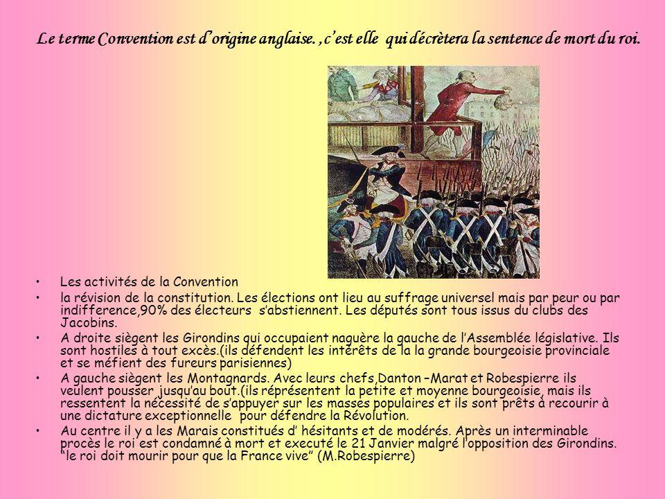 Le terme Convention est d'origine anglaise