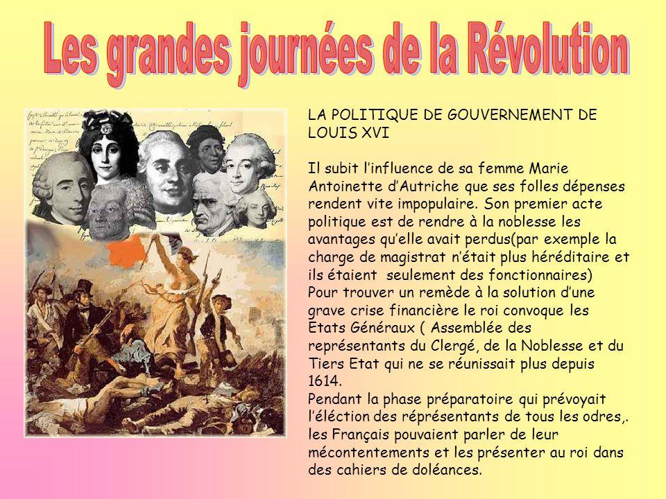 Les grandes journées de la Révolution