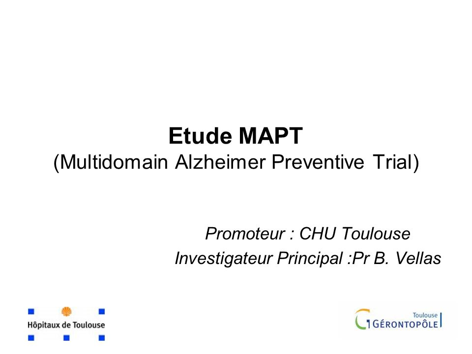 Etude MAPT (Multidomain Alzheimer Preventive Trial)