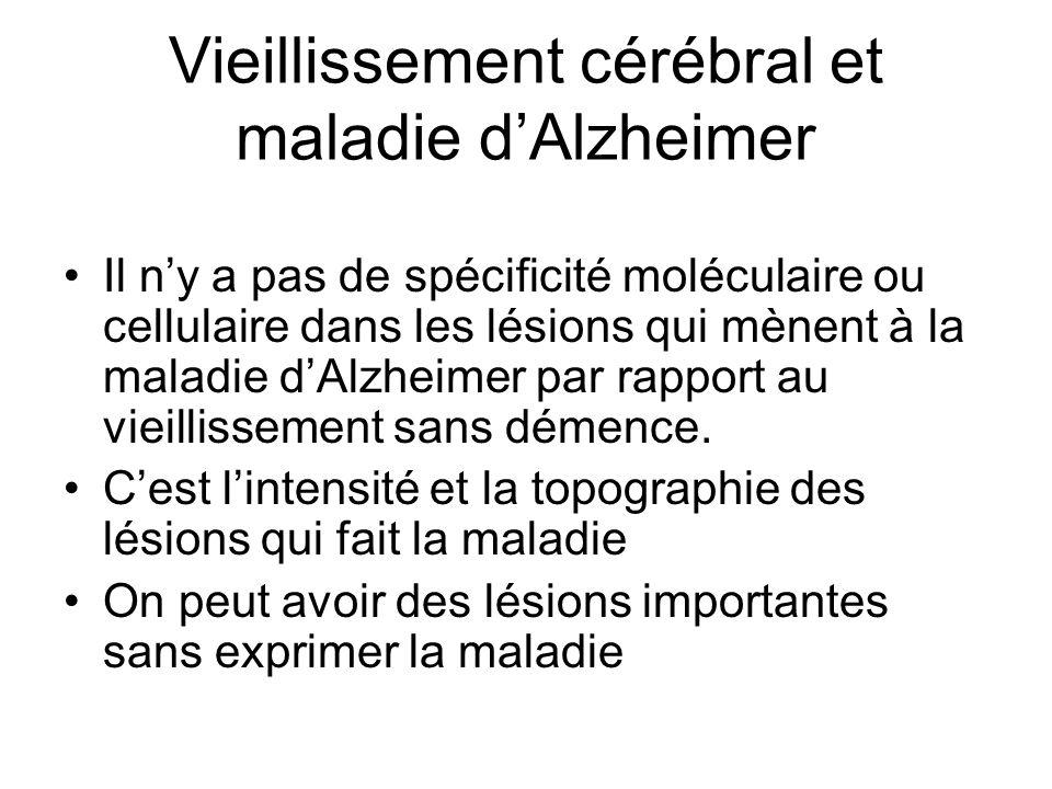 Vieillissement cérébral et maladie d'Alzheimer
