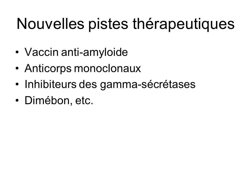 Nouvelles pistes thérapeutiques