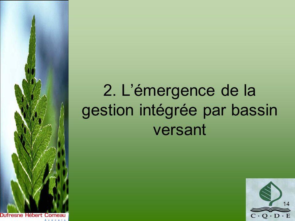 2. L'émergence de la gestion intégrée par bassin versant