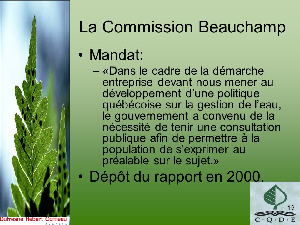 La Commission Beauchamp
