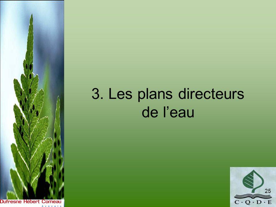 3. Les plans directeurs de l'eau
