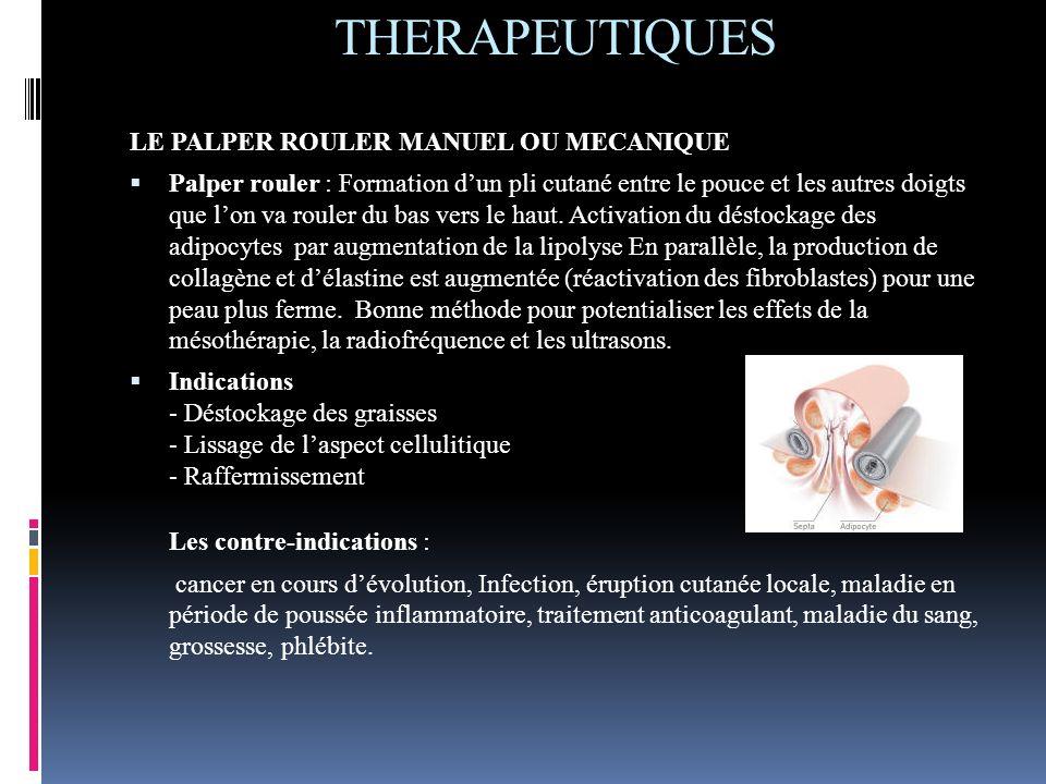 THERAPEUTIQUES LE PALPER ROULER MANUEL OU MECANIQUE