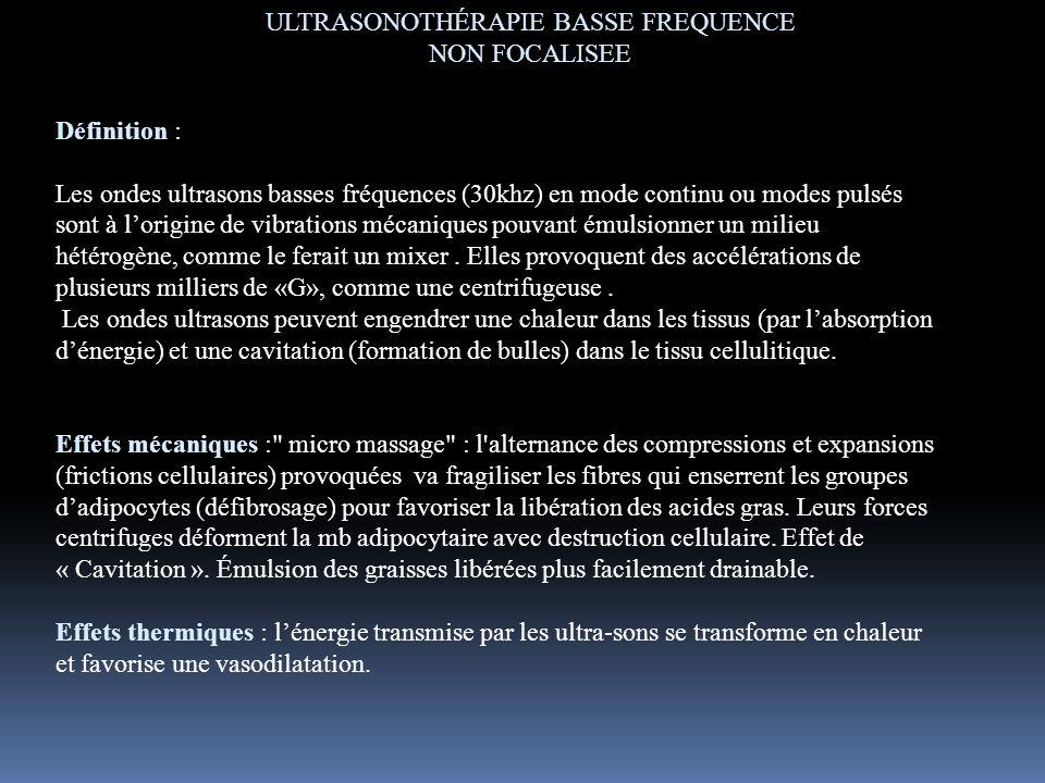 ULTRASONOTHÉRAPIE BASSE FREQUENCE