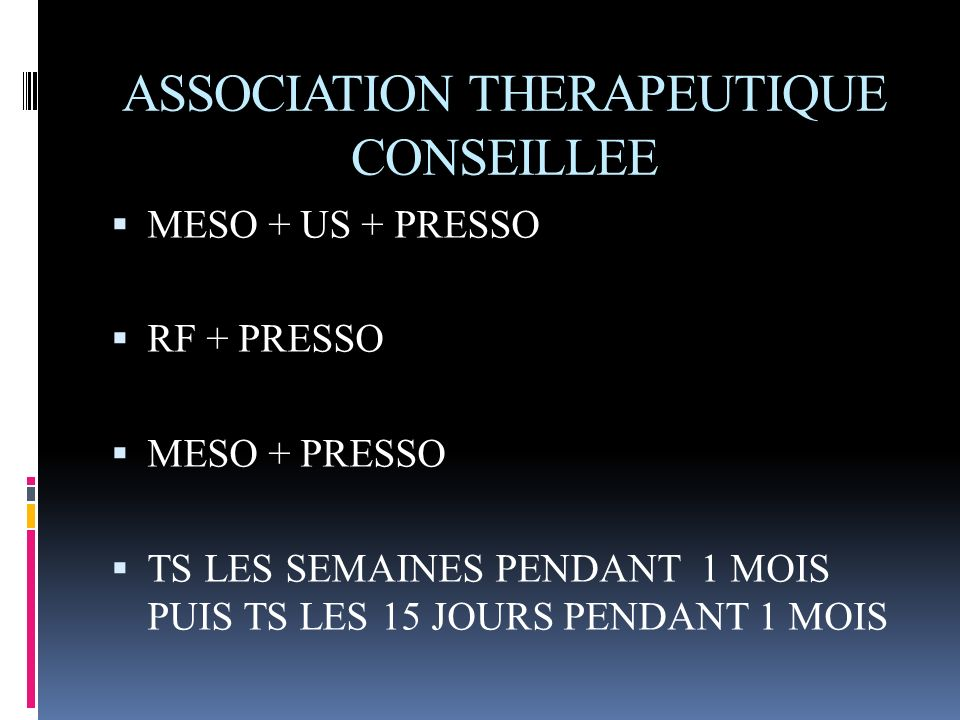 ASSOCIATION THERAPEUTIQUE CONSEILLEE