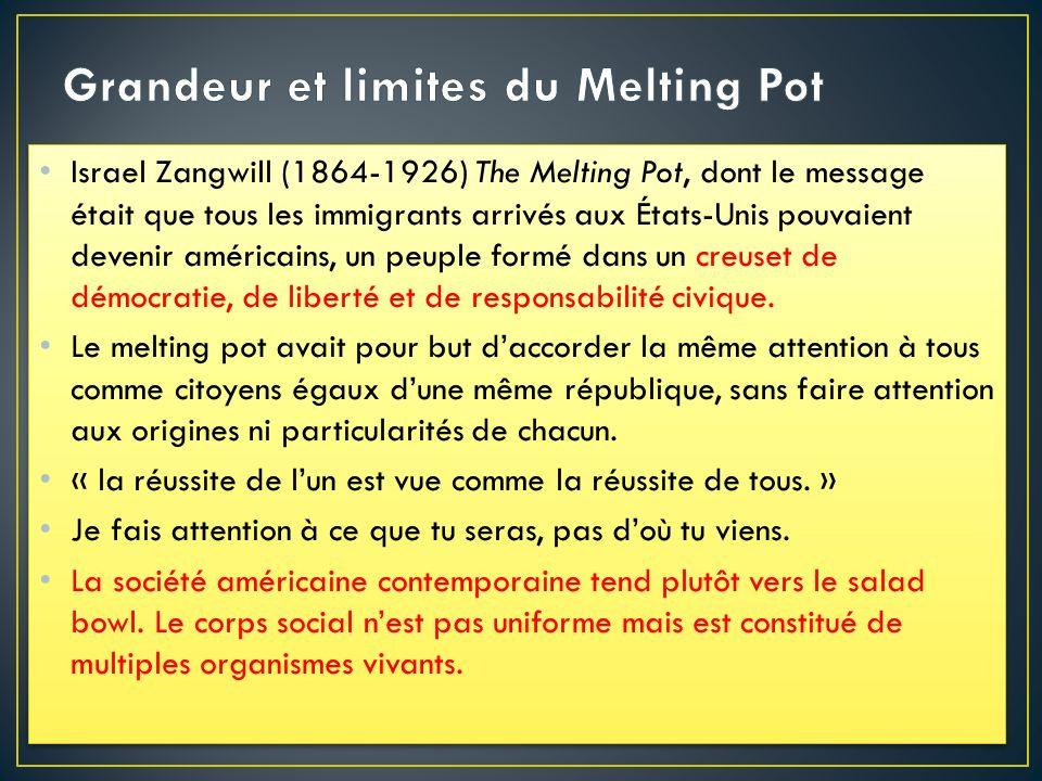 Grandeur et limites du Melting Pot