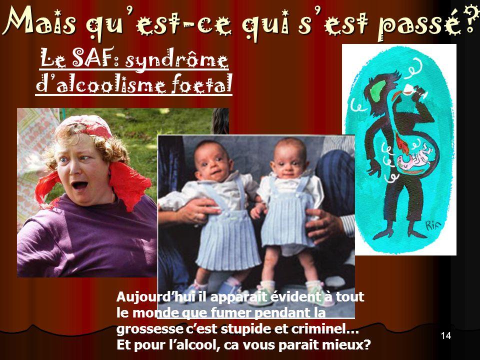 Le SAF: syndrôme d'alcoolisme foetal