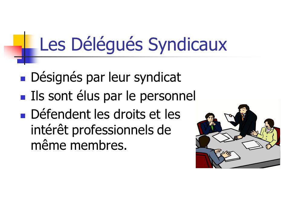 Les Délégués Syndicaux