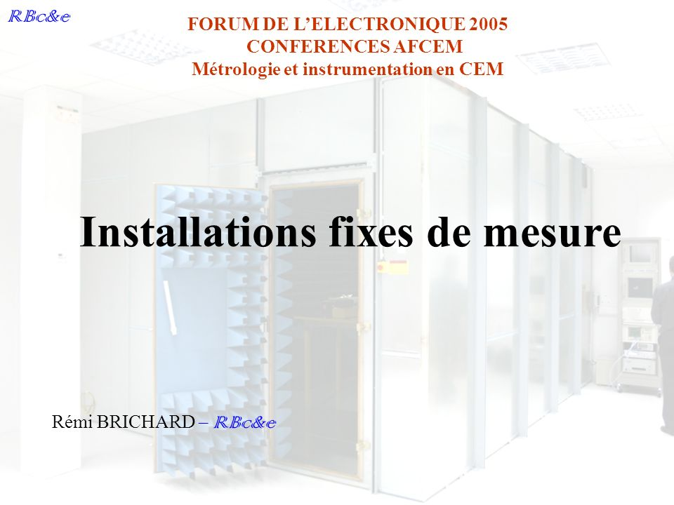 Installations fixes de mesure