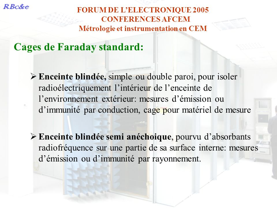 Cages de Faraday standard: