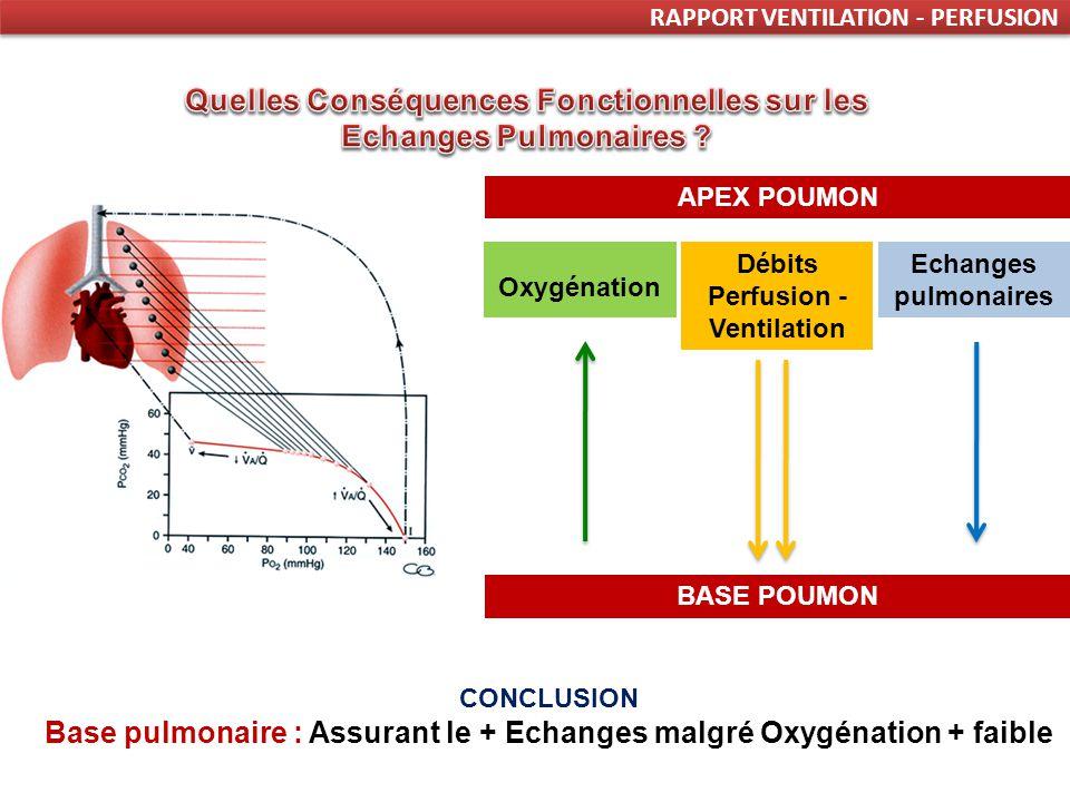 Quelles Conséquences Fonctionnelles sur les Echanges Pulmonaires