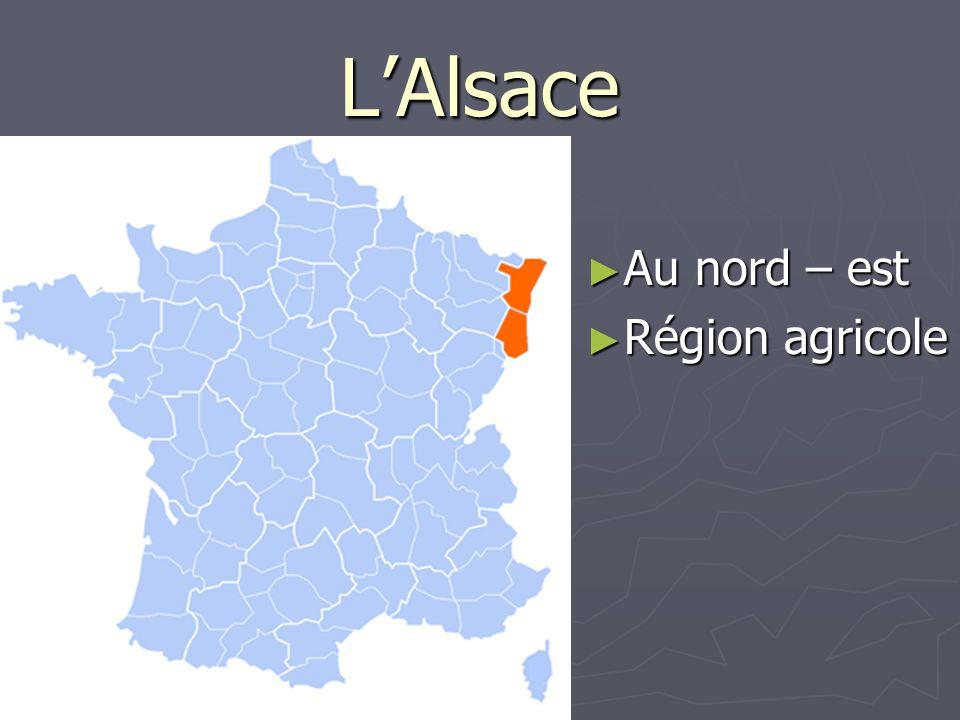 L'Alsace Au nord – est Région agricole