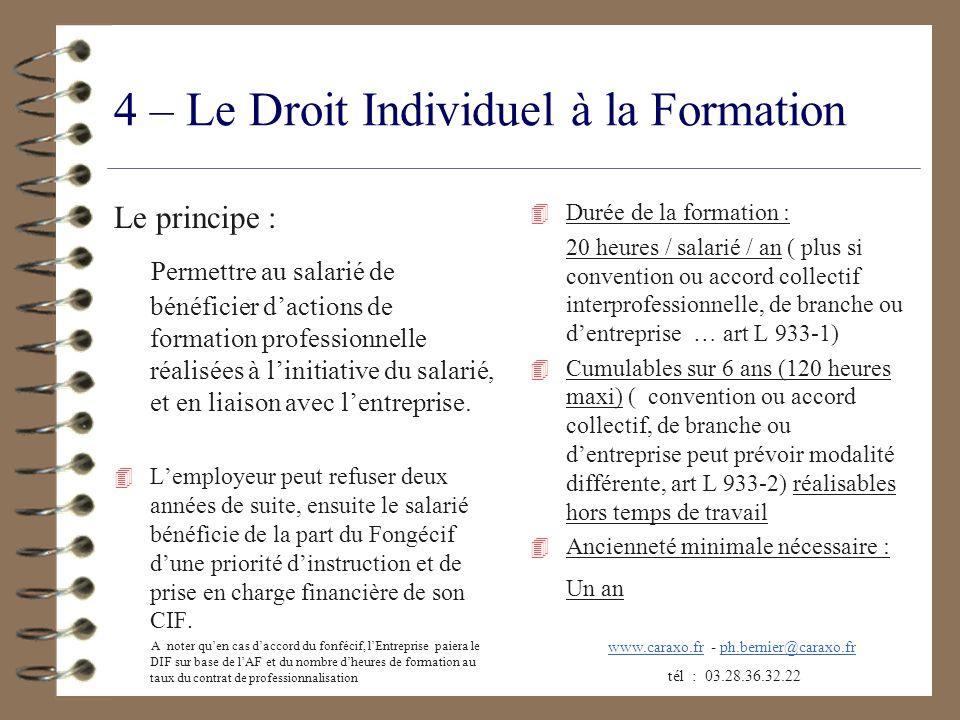 4 – Le Droit Individuel à la Formation