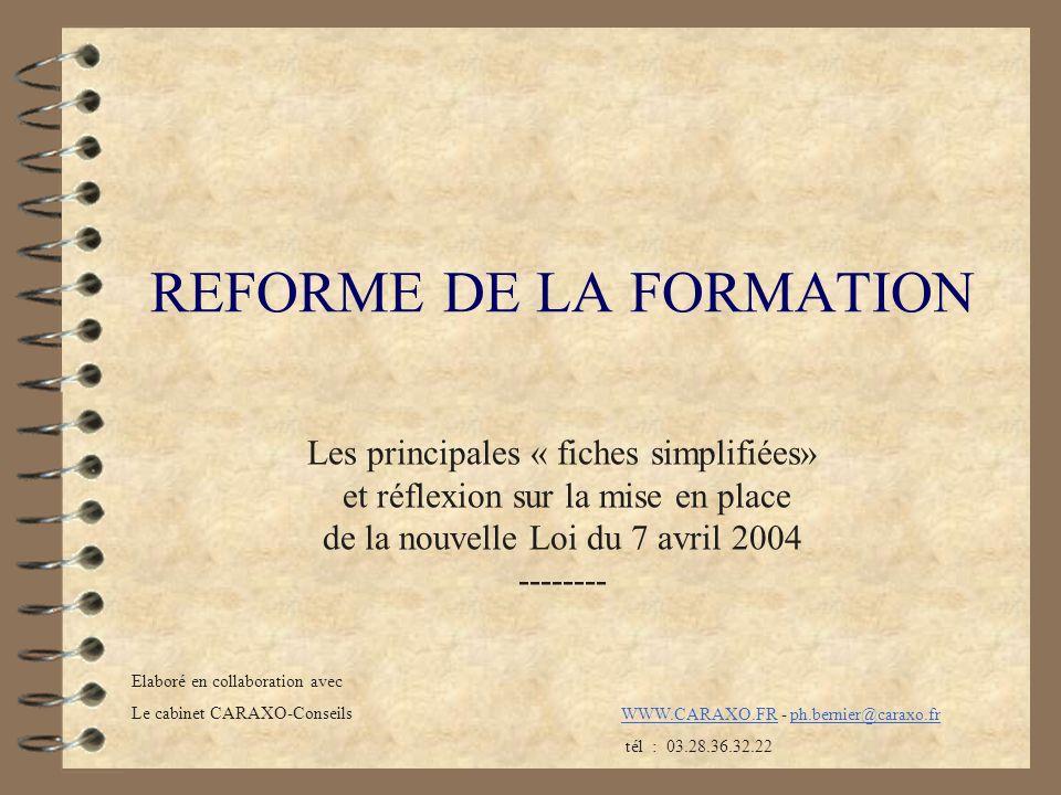 REFORME DE LA FORMATION