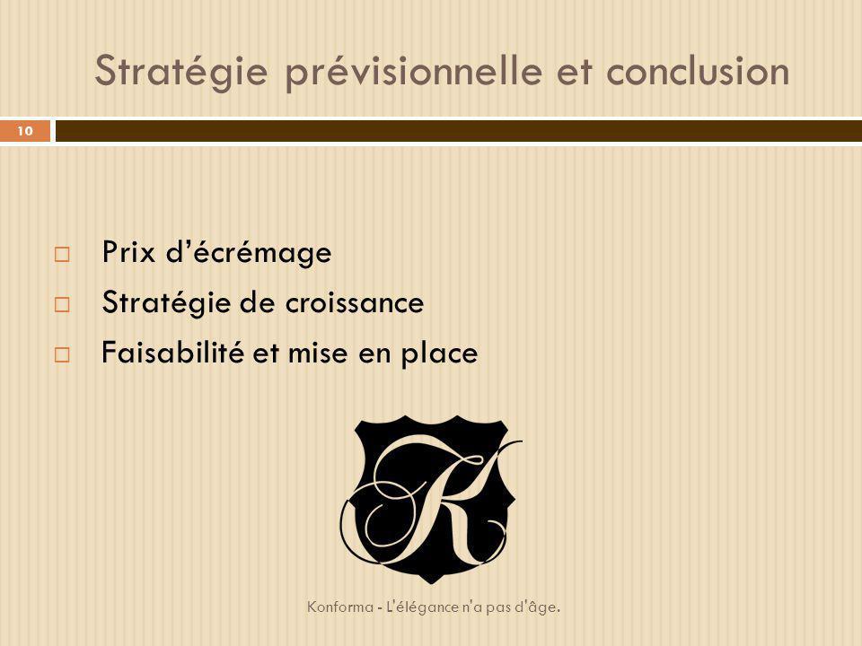 Stratégie prévisionnelle et conclusion