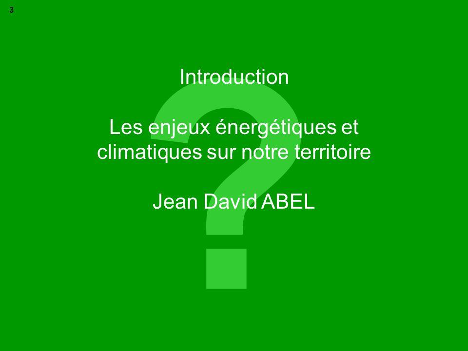 Les enjeux énergétiques et climatiques sur notre territoire