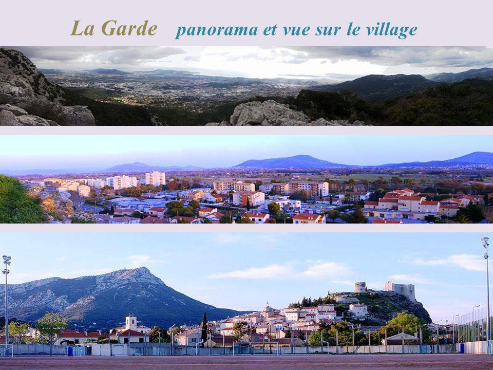 La Garde panorama et vue sur le village