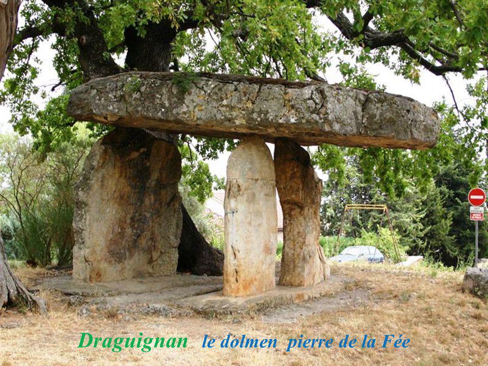 Draguignan le dolmen pierre de la Fée
