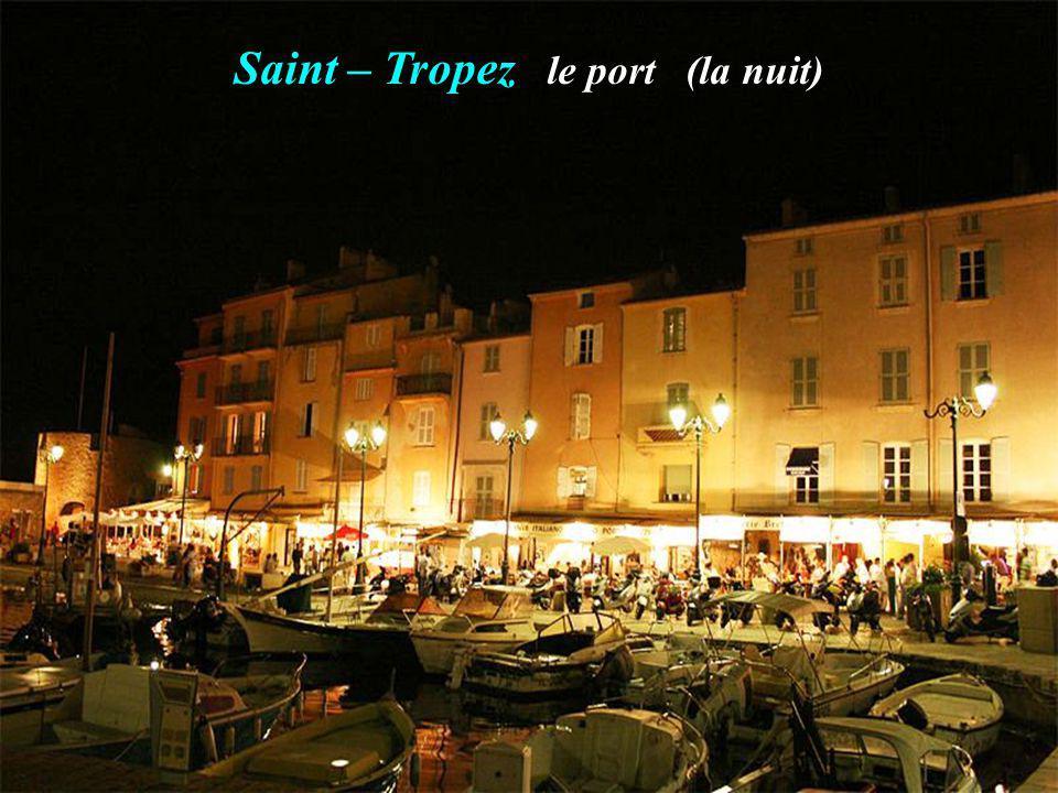 Saint – Tropez le port (la nuit)