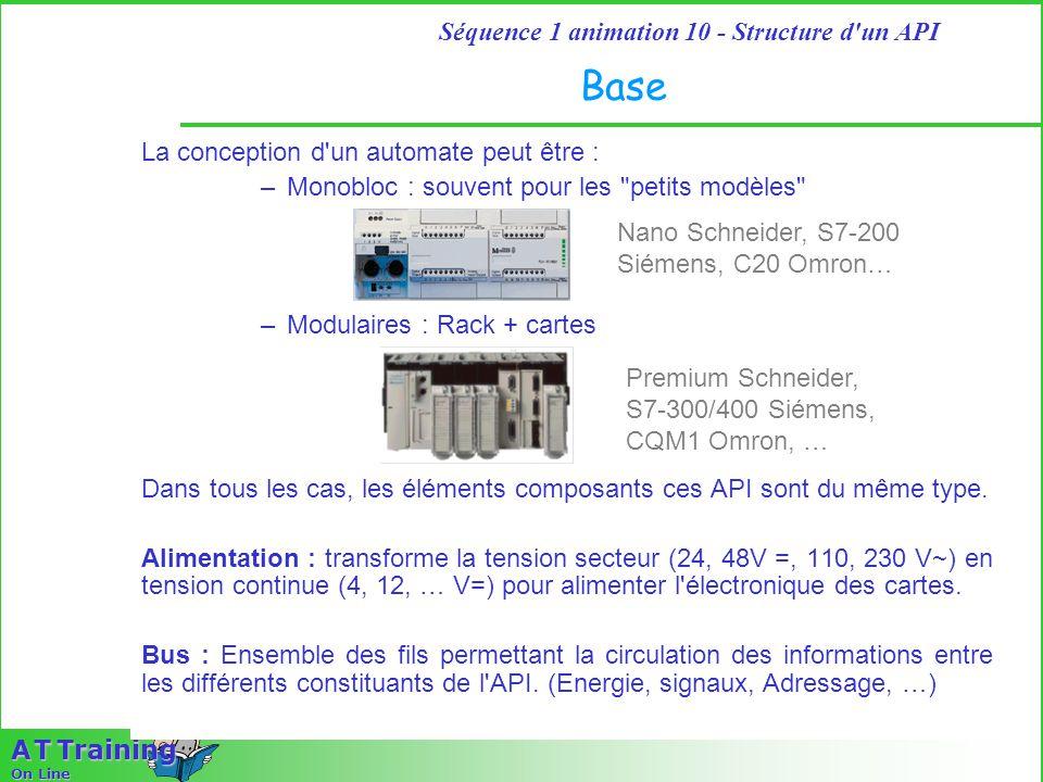 Base La conception d un automate peut être :