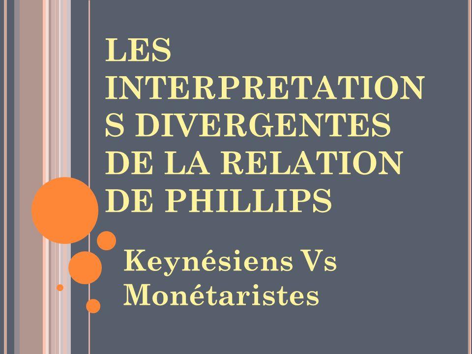 LES INTERPRETATIONS DIVERGENTES DE LA RELATION DE PHILLIPS