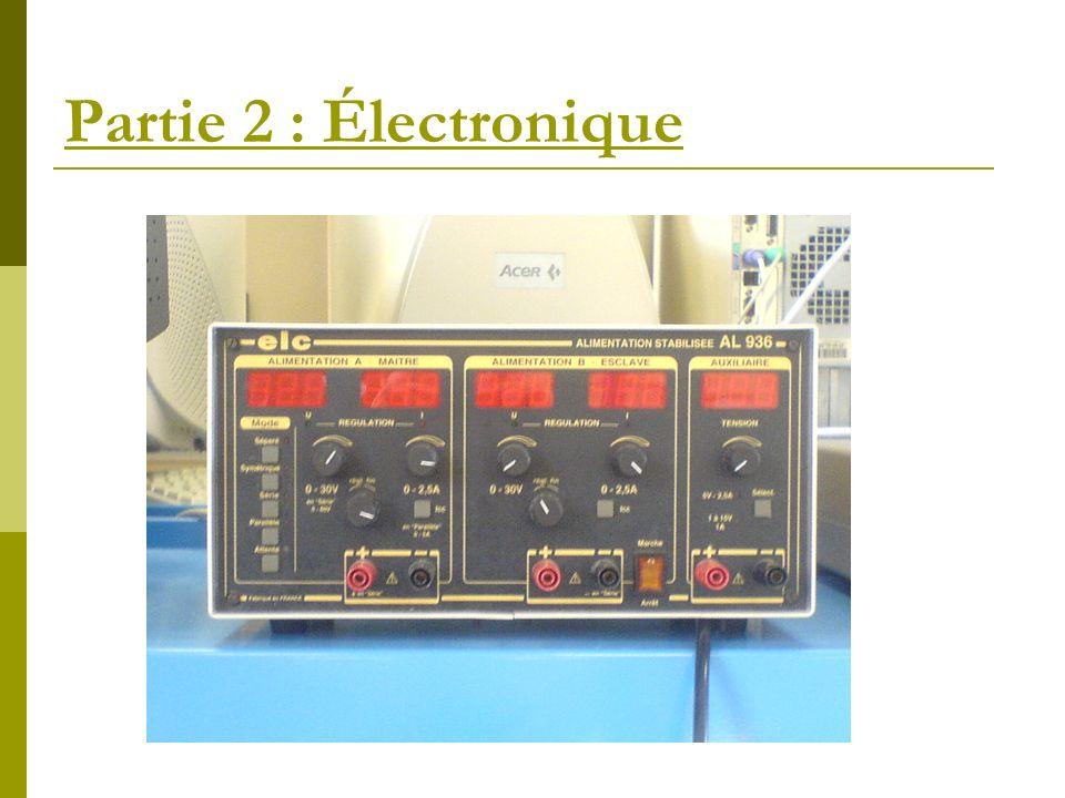 Partie 2 : Électronique
