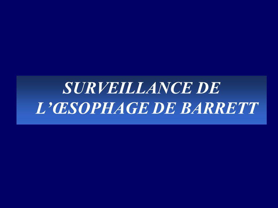 SURVEILLANCE DE L'ŒSOPHAGE DE BARRETT