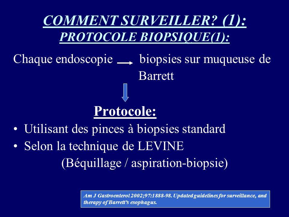 COMMENT SURVEILLER (1): PROTOCOLE BIOPSIQUE(1):