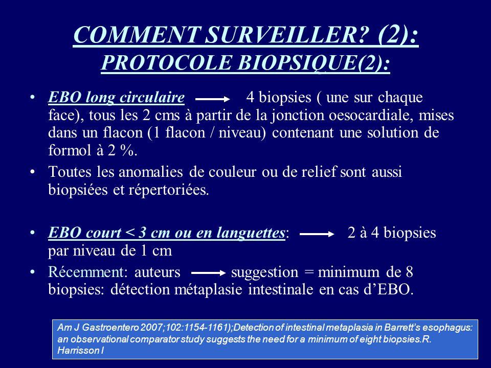 COMMENT SURVEILLER (2): PROTOCOLE BIOPSIQUE(2):