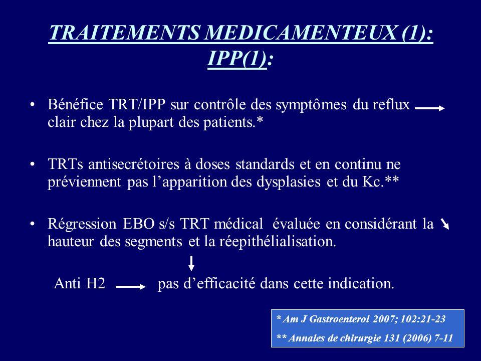 TRAITEMENTS MEDICAMENTEUX (1): IPP(1):