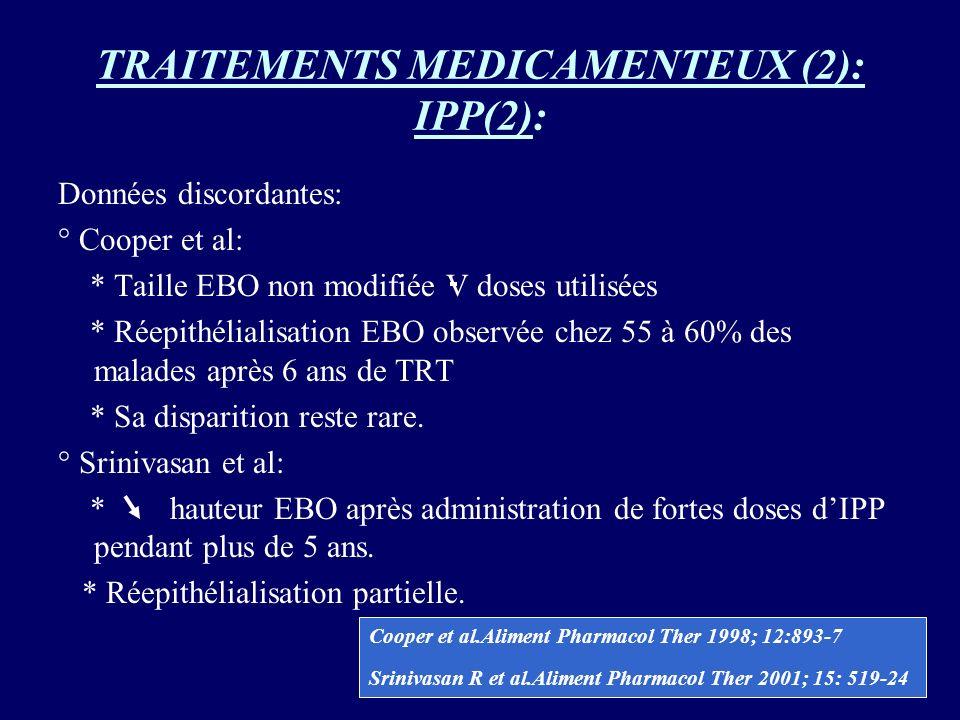 TRAITEMENTS MEDICAMENTEUX (2): IPP(2):