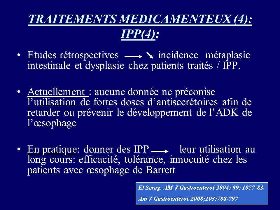 TRAITEMENTS MEDICAMENTEUX (4): IPP(4):