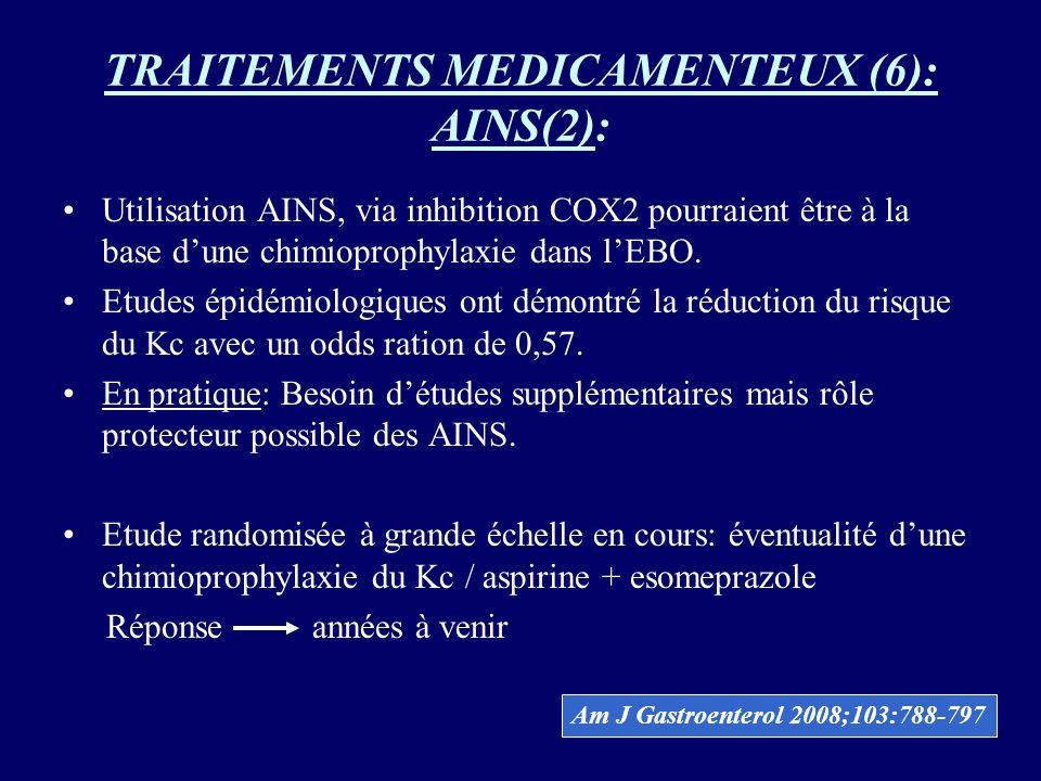 TRAITEMENTS MEDICAMENTEUX (6): AINS(2):