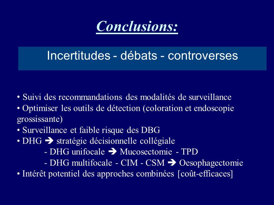 Incertitudes - débats - controverses