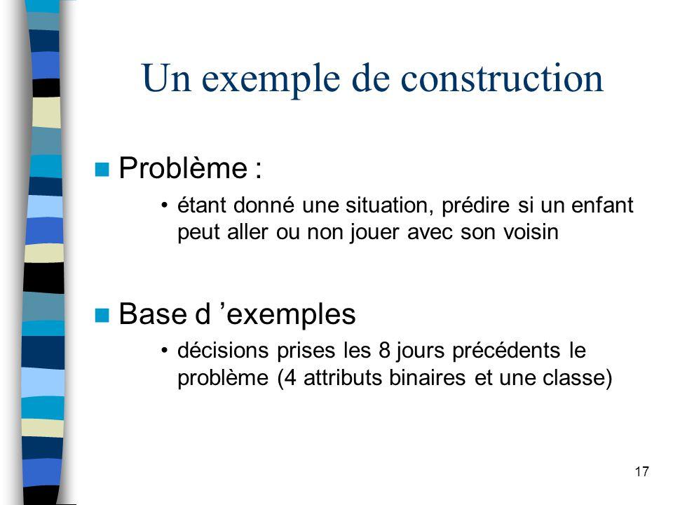 Un exemple de construction