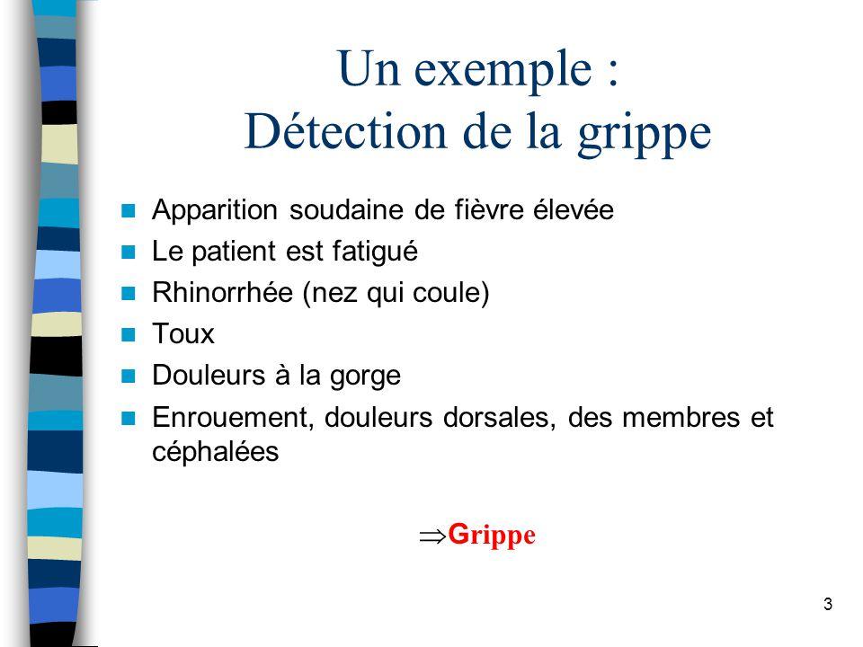 Un exemple : Détection de la grippe