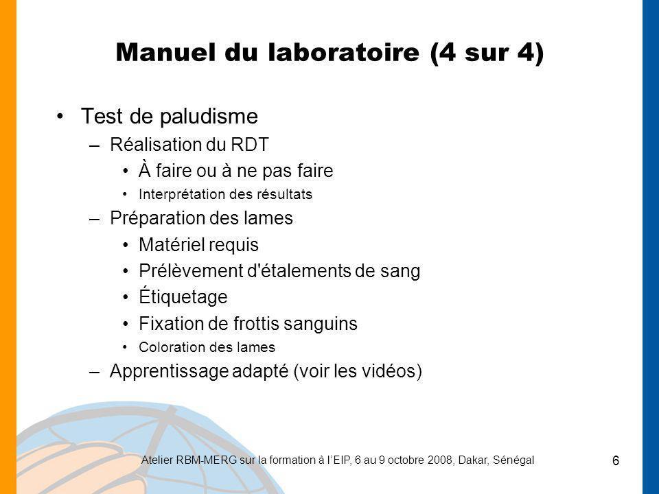 Manuel du laboratoire (4 sur 4)