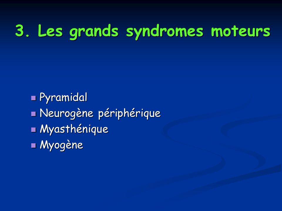 3. Les grands syndromes moteurs