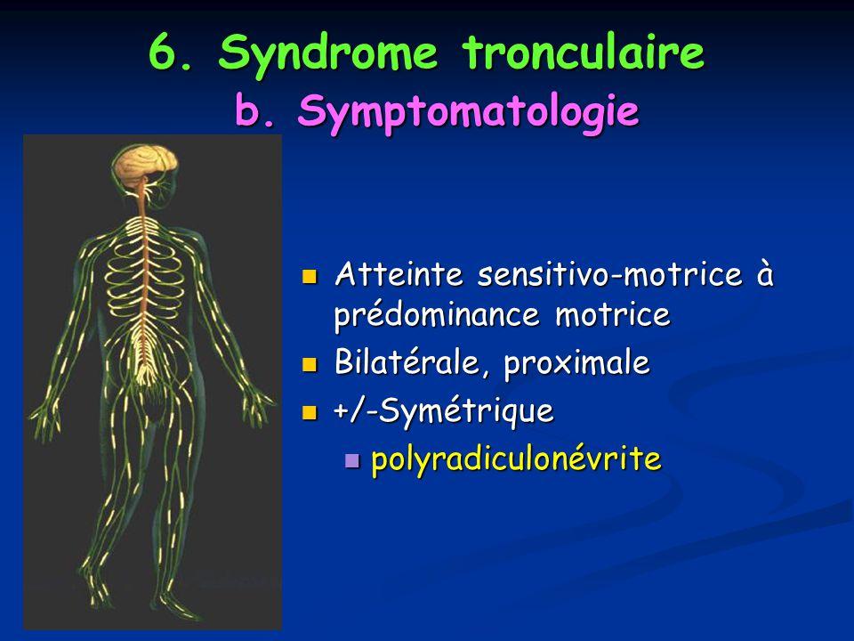6. Syndrome tronculaire b. Symptomatologie
