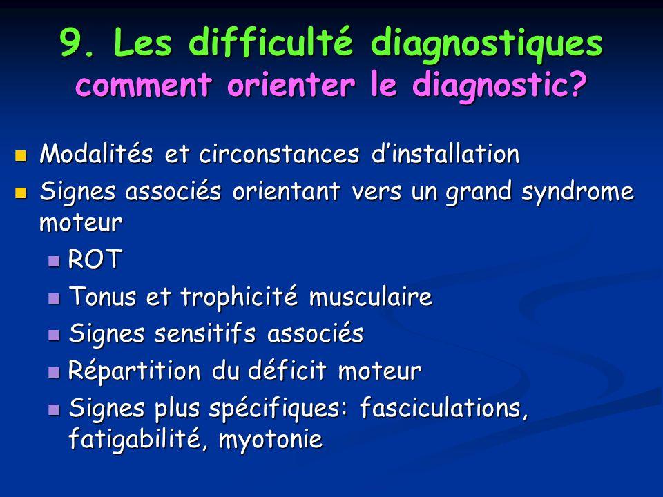 9. Les difficulté diagnostiques comment orienter le diagnostic