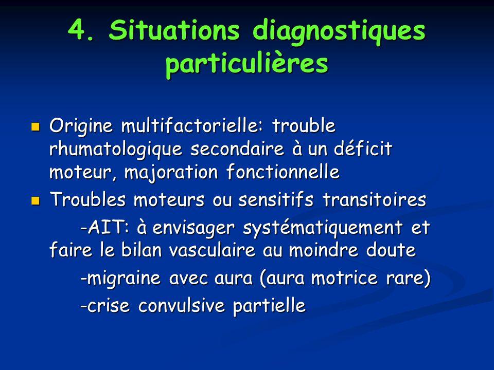 4. Situations diagnostiques particulières