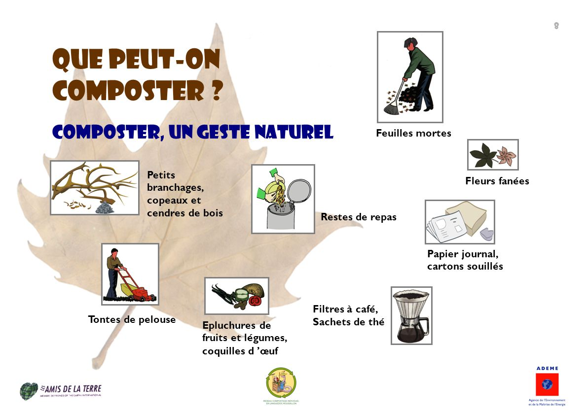 QUE Peut-on composter Composter, un geste naturel Feuilles mortes