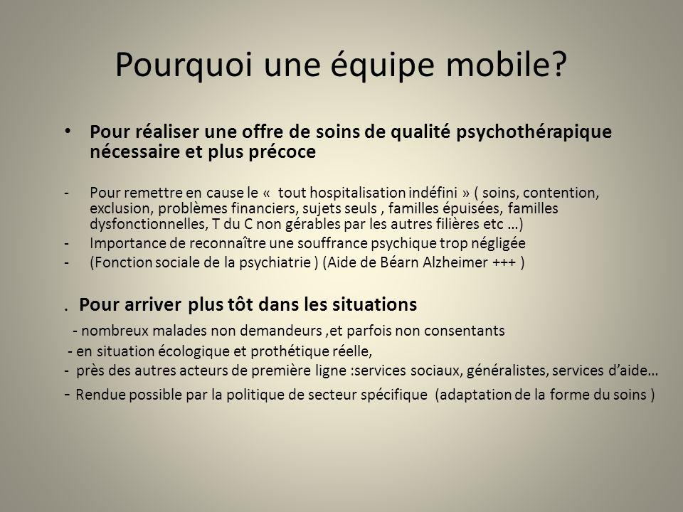 Pourquoi une équipe mobile