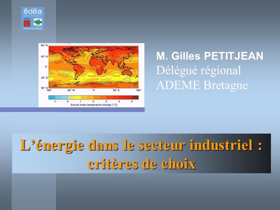 L'énergie dans le secteur industriel : critères de choix