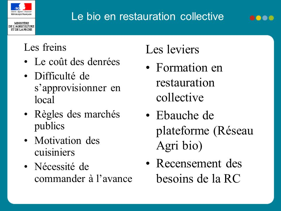 Le bio en restauration collective