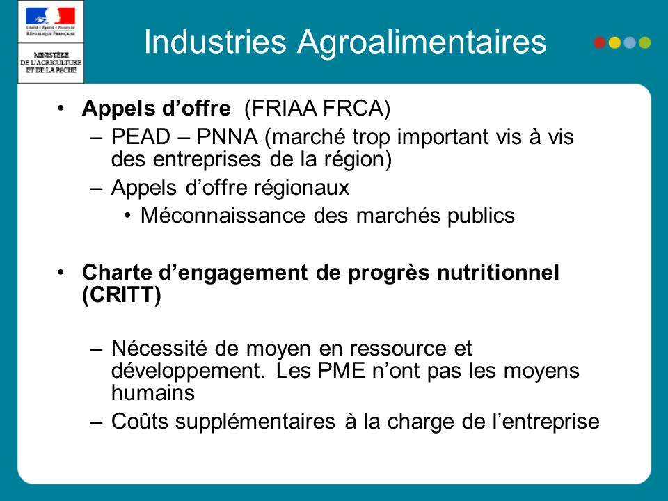 Industries Agroalimentaires
