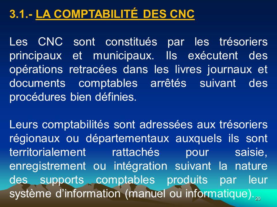 3.1.- LA COMPTABILITÉ DES CNC