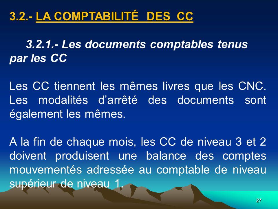 3.2.- LA COMPTABILITÉ DES CC